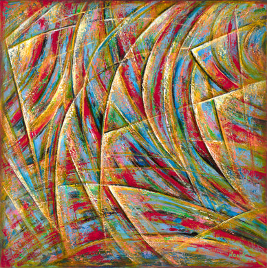 Beyond Lines canvas print on Traditional Stretched Canvas (original: 48