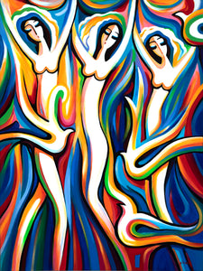 art-by-novik - (48X36) Dance of the Brides on Traditional Stretched Canvas -