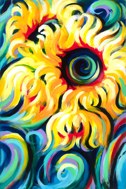 Eye of the Sun canvas print on Traditional Stretched Canvas (original: 36