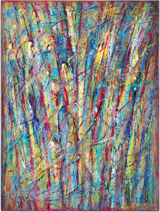 "art-by-novik - (40"" X 30"") Fountain of Colors (Original Painting - acrylic on canvas) - $6,500 -"