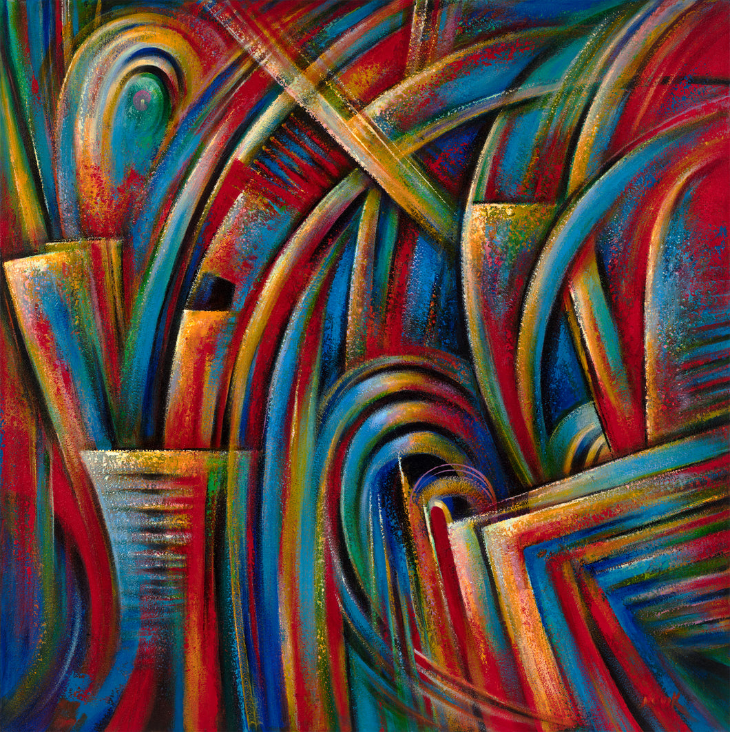 art-by-novik - (48X48) Higher than out Knowledge on Traditional Stretched Canvas -