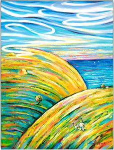 "art-by-novik - (40"" X 30"") Piece of Paradise (Original Painting - acrylic on canvas) - $7,500 -"