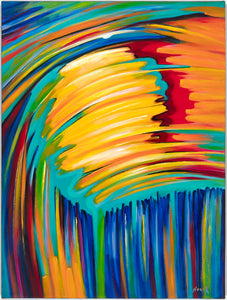 "(40"" X 30"") Reflection of the Sun (Original Painting - acrylic on canvas) - $6,500"