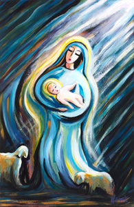 (24X16) Birth of the Savior on Traditional Stretched Canvas