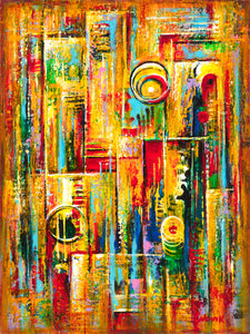 (24X18) Time Stopped on Traditional Stretched Canvas