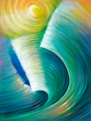 Wave Romance canvas print on Traditional Stretched Canvas (original: 40