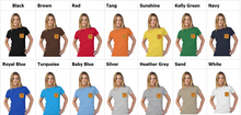 Load image into Gallery viewer, Children of the Sun Tultex Women's Pocket Tee