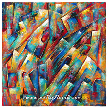Load image into Gallery viewer, Colorful Abstract Art Bandana by Novik - Space Collection