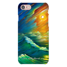 Load image into Gallery viewer, Phone Case Surrealist Ocean Storm Wave Expressionist Art by Novik - Yellow from the Night Sky