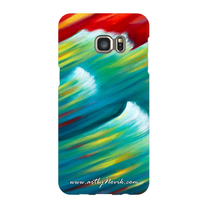 Phone Case Expressionist Ocean Water Waves Sunset Art by Novik - Messenger of the Sunset*