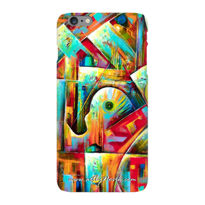 Phone Case Abstract Art by Novik - Music in the City