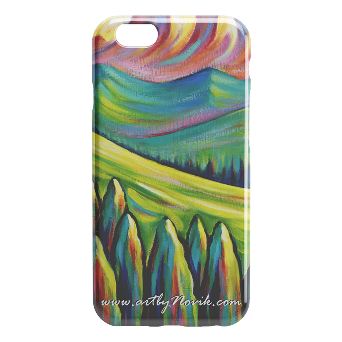 Phone Case Landscape Expressionist Art by Novik - Somewhere Far $