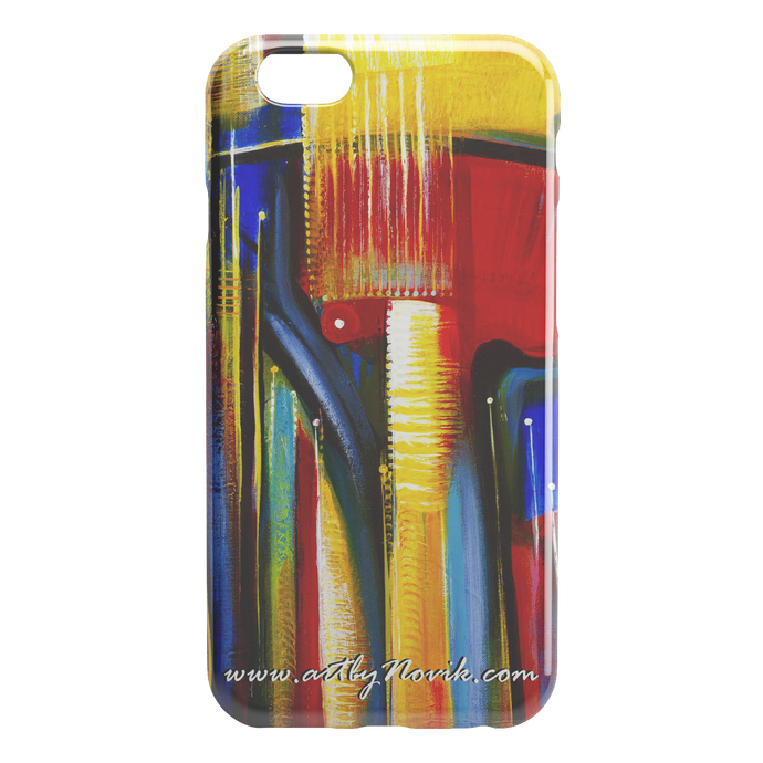Phone Case Abstract Art by Novik - Echo from the Future $
