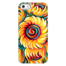 Art Phone Case Sunflower painting by Novik Expressionism