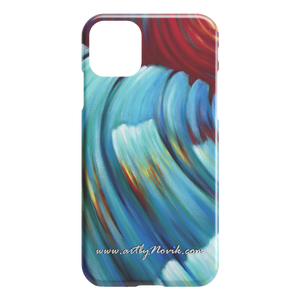 Phone Case Ocean Waves Water Expressionist Art by Novik - Storm from the Future $