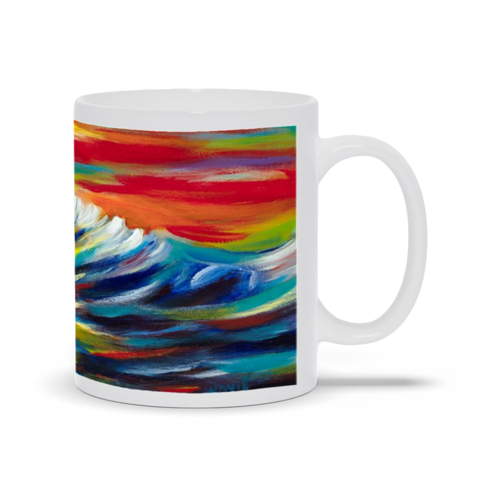 art-by-novik - Evening Waves Mug -