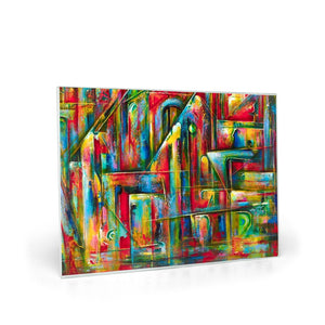 art-by-novik - Secret Entrance Glass Cutting Board (8X11) -