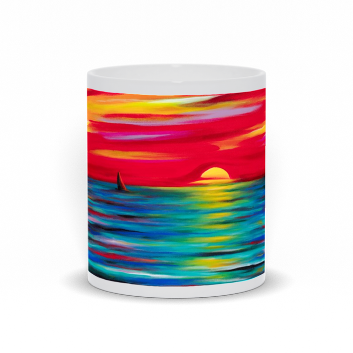 art-by-novik - Sunset Mug -