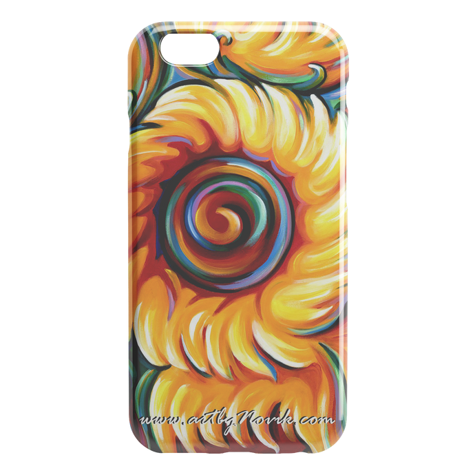 Phone Case Expressionist Sunflower Art by Novik - Children of the Sun $