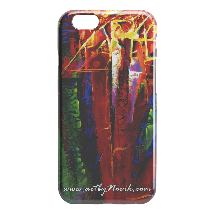 Phone Case Abstract Art by Novik - Tree of Life $