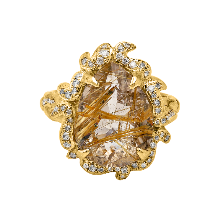 A Lover's Flame Gold Ring