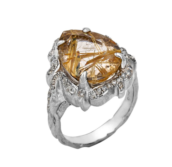 A Lover's Flame Silver Ring