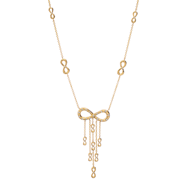 Infinite Seven Gold Necklace