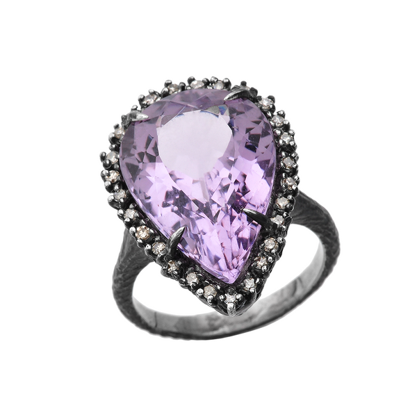 Amethystos Silver Ring