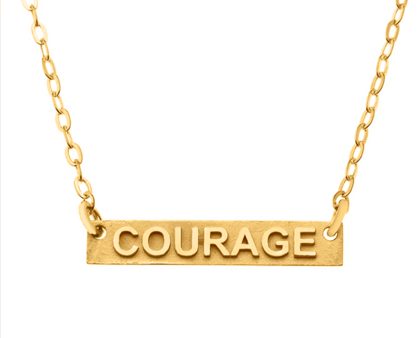 Courage Gold Necklace