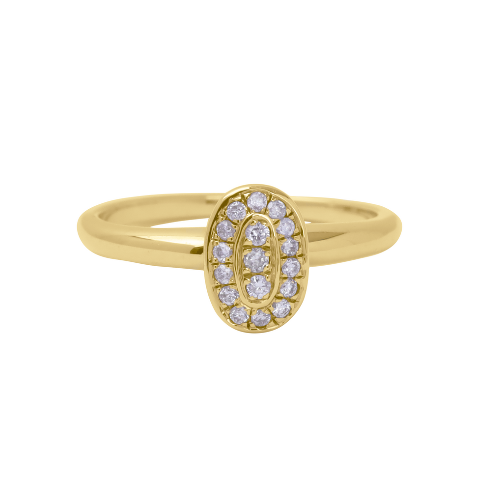 The Ellipse Gold Ring