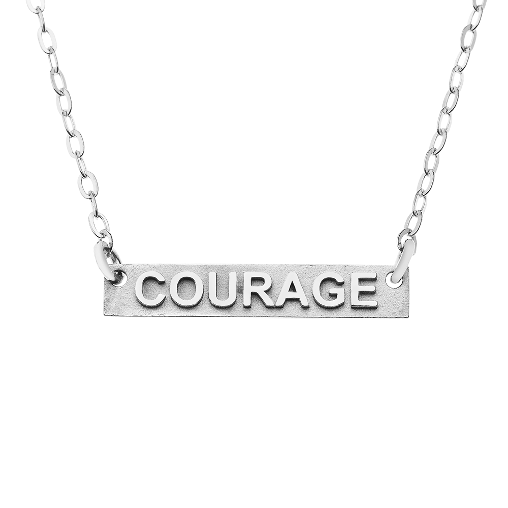 Courage Silver Necklace