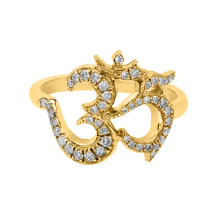 Diamond Ohm Gold Ring