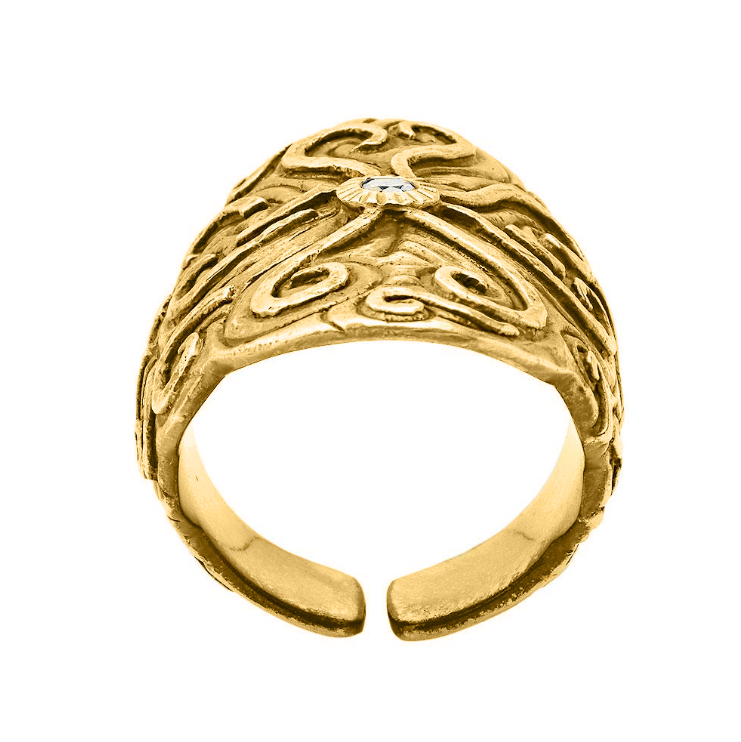 Energy Flow Gold Ring