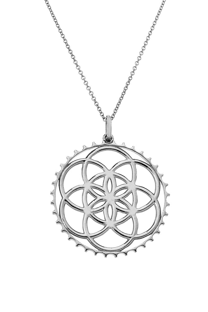 14K Solid Seed of Life Pendant