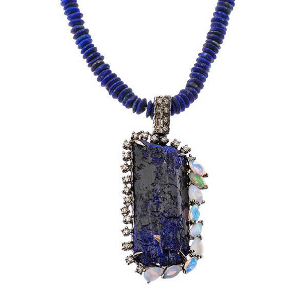 Eclectic Pillar Silver Necklace