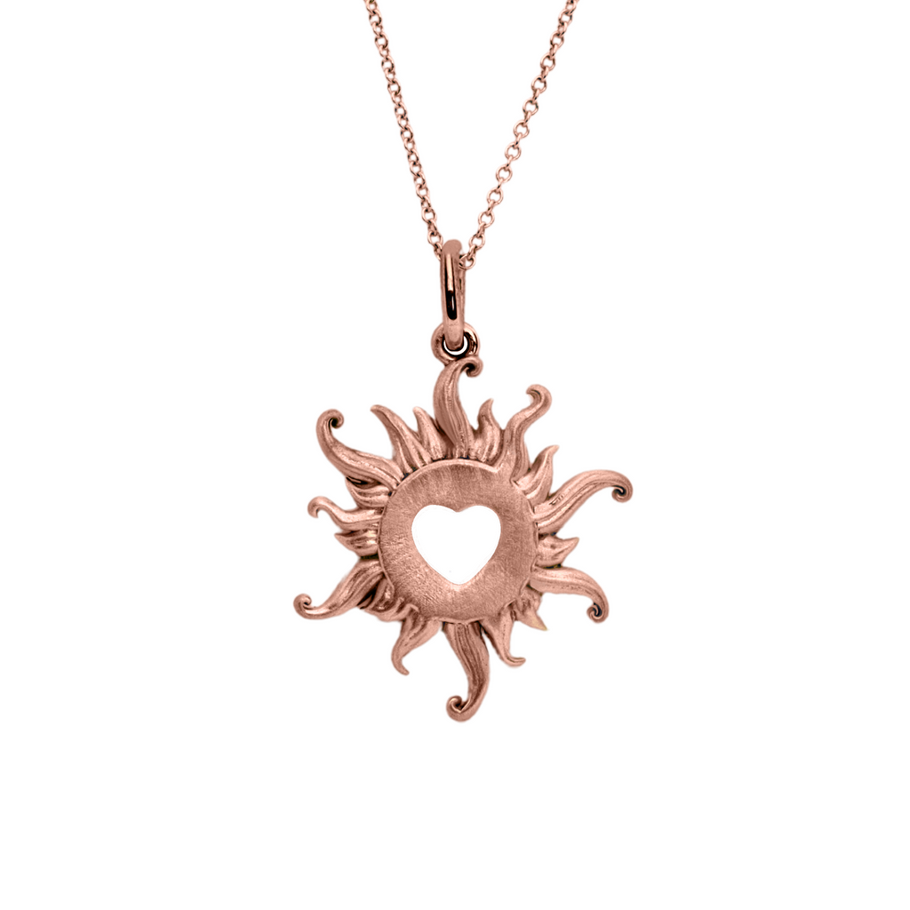 Mini 14K Solid Gold Blazing Love Necklace