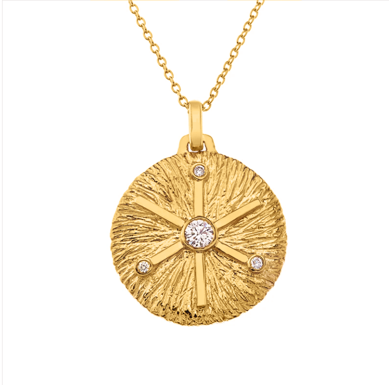 Seek Inner Peace Gold Medallion