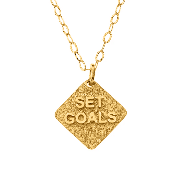 Set Goals Gold Necklace