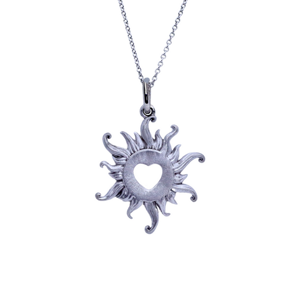 Mini Sterling Silver Blazing Love Necklace