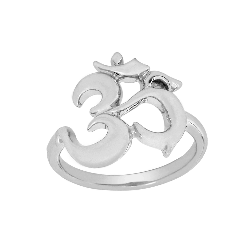 Silver Solid Ohm Ring