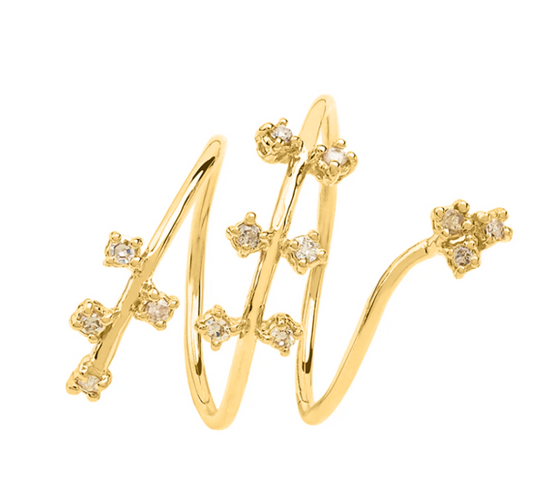 Twirling Stars Gold Band