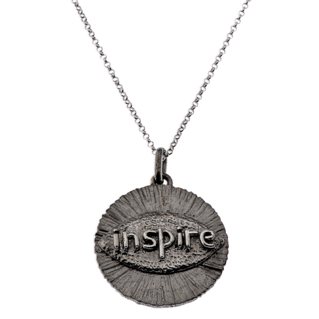 I Inspire Silver Necklace