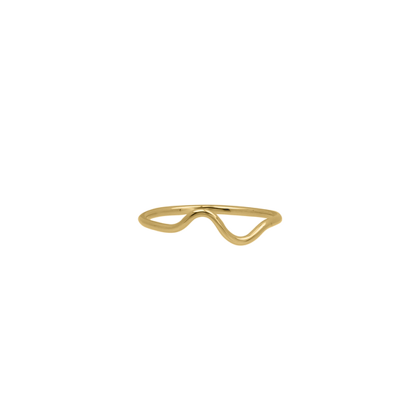 14K Solid Wavy Band