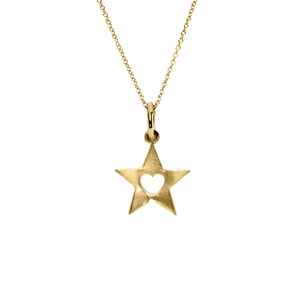 Mini 14K Solid Gold Twinkle Necklace