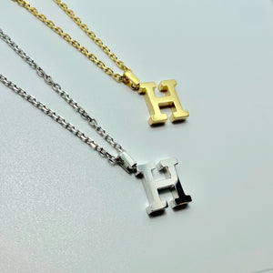 """H"" NECKLACE"