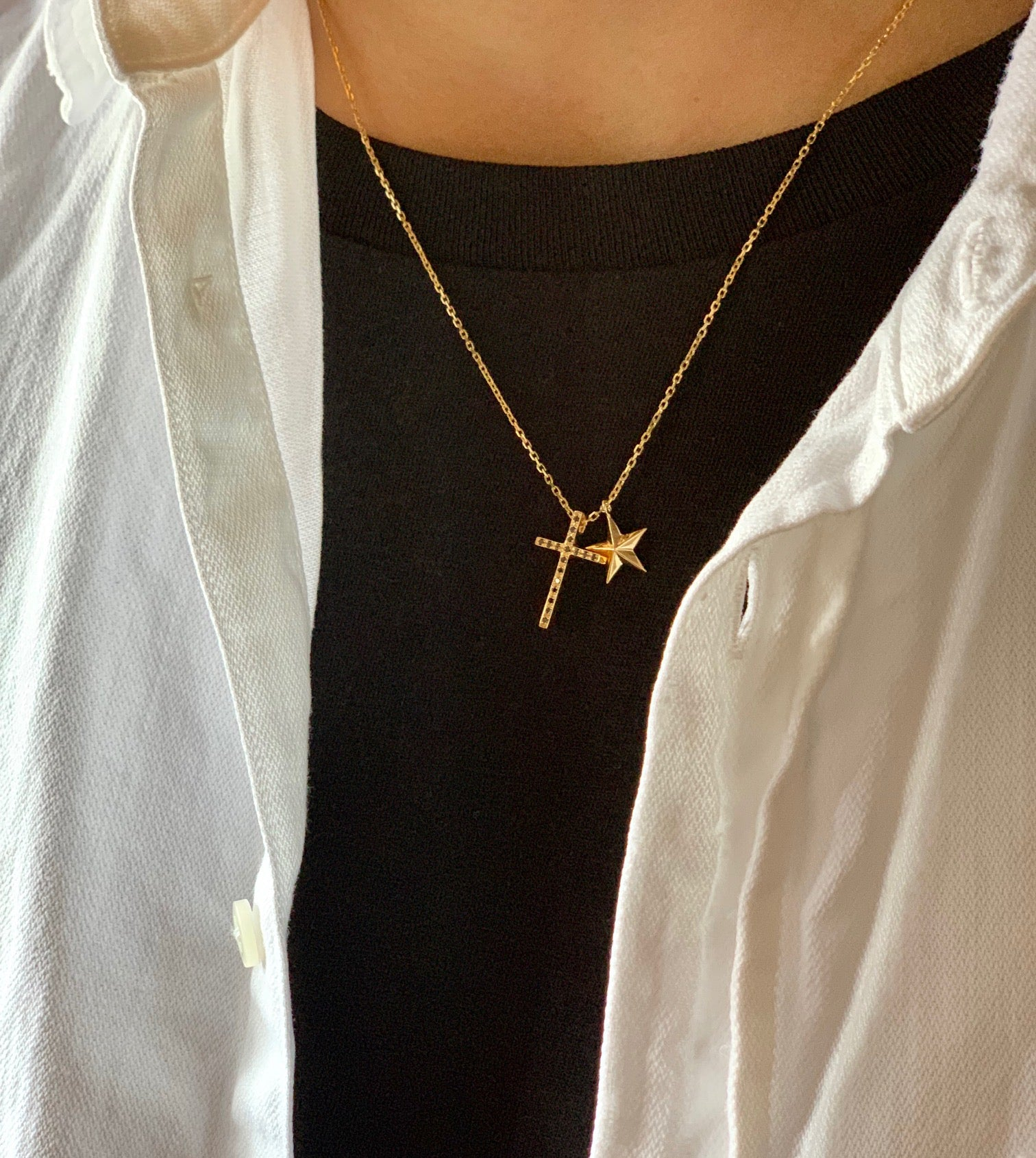 CROSS×STAR NECKLACE