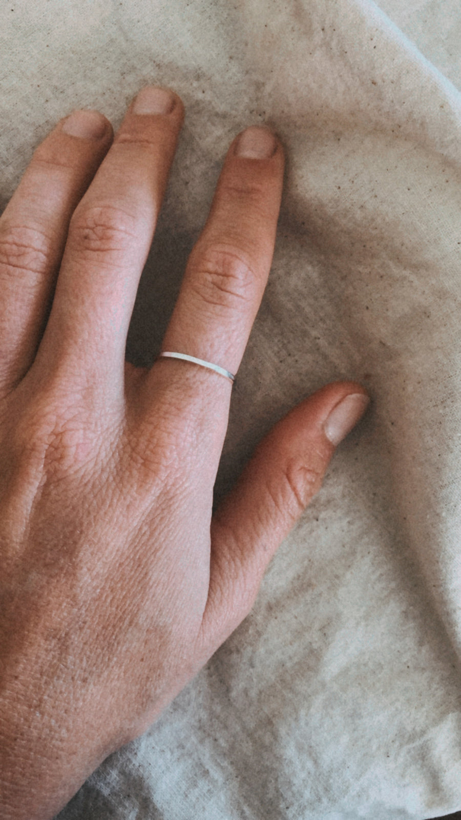 Sterling Silver Stacking Ring - Square Mini