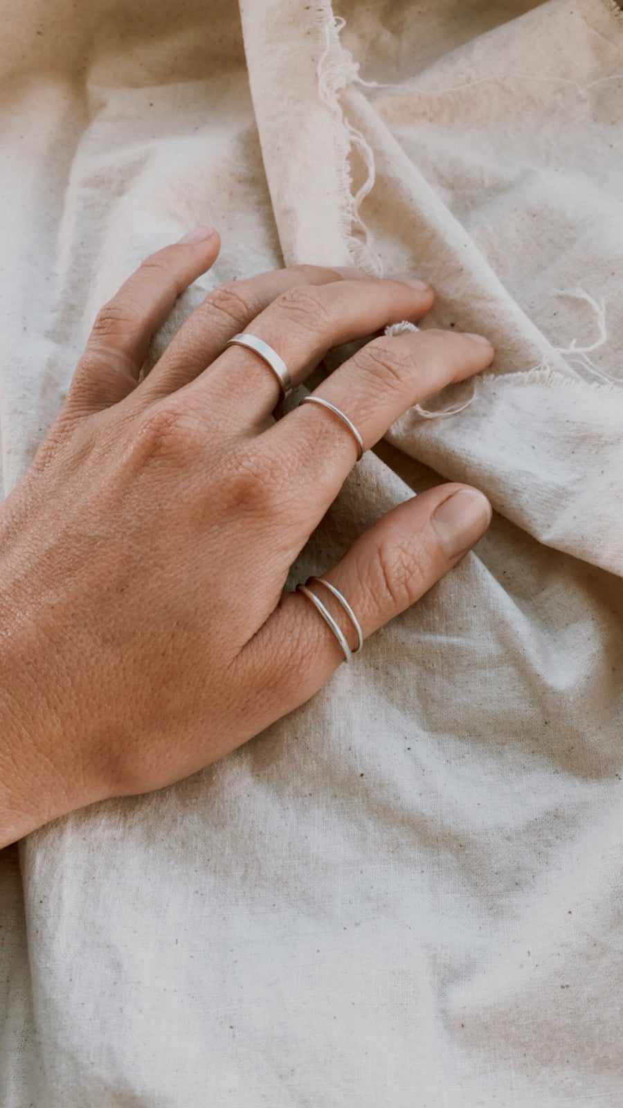Sterling Silver Stacking Ring - Flat
