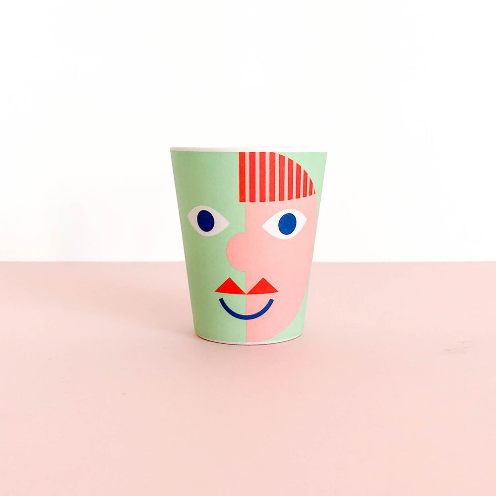 Bamboo Cup - Green Face - Turner Contemporary Shop