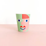 Bamboo Cup - Green Face